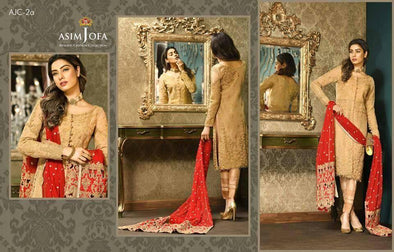 Asim Jofa Designer Dress Chiffon Tilla, Dari Work & Cutwork Designer Dress