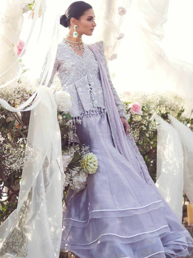 Beautiful Eye catching Indian Lavender lehenga  2