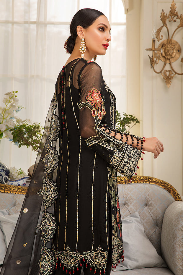 Pakistani Eid Dress In Elegant Black 1