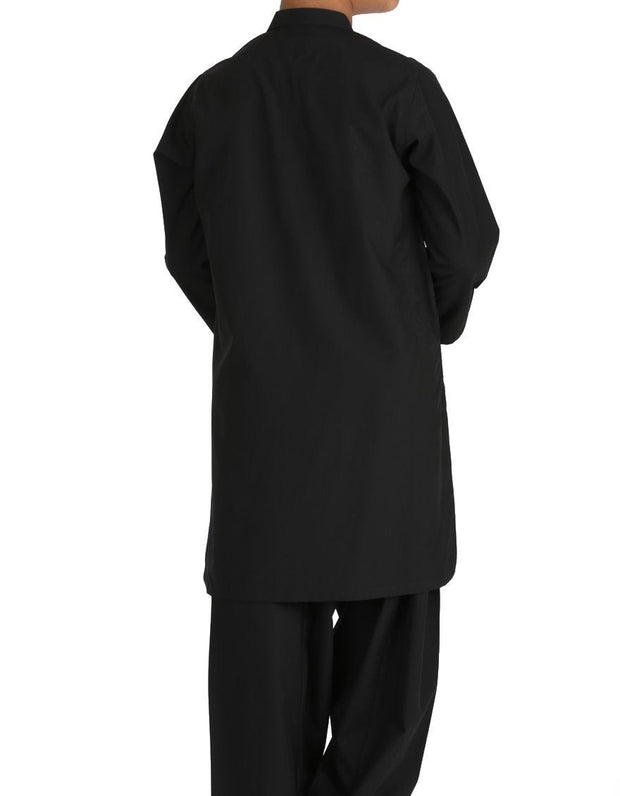 Beautiful Pakistani boy outfit in black color for casual wear # K2309