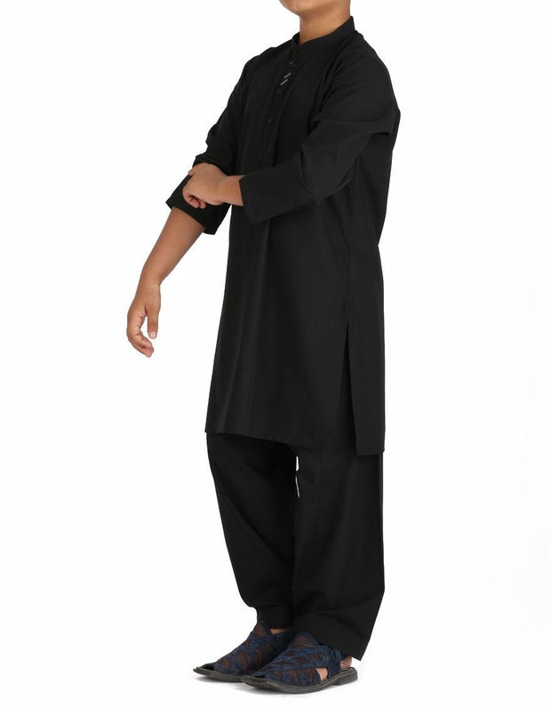 Beautiful Pakistani boy outfit in black color for casual wear