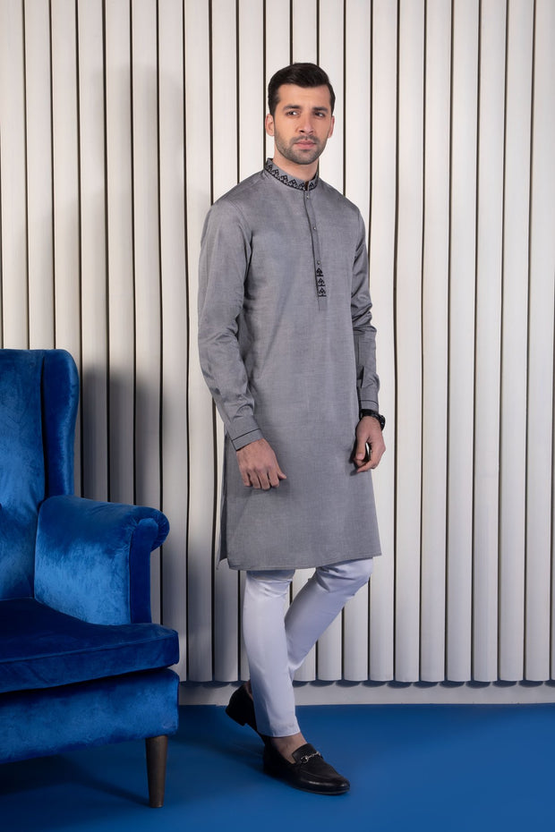 Boys Eid Kurta with Embroidery