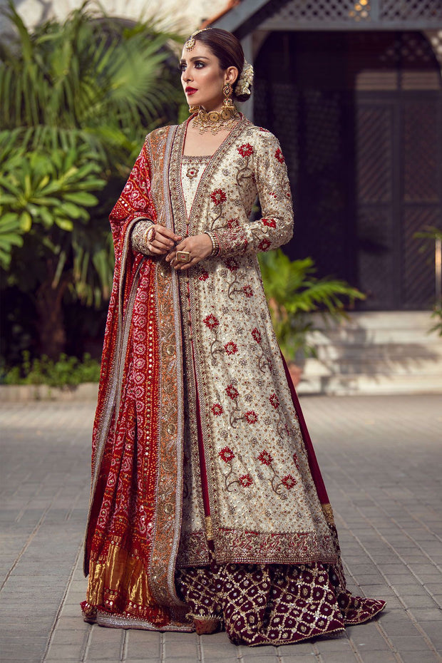 Bridal Luxury Lehnga Outfit in Ivory Color