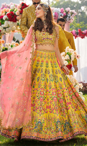 Bridal Mehndi Lehnga Choli for Wedding