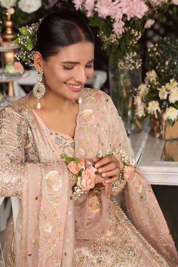 Bridal Pashwas for Wedding in Ivory Color Close Up