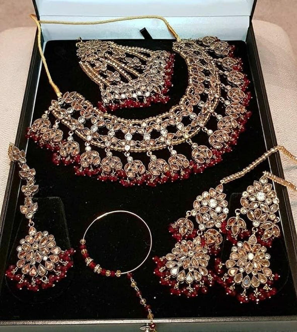 Bridal Crystal Jewellery Set for Wedding
