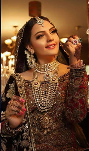 Bridal Kundan Rani Haar and Necklace Set Front Look