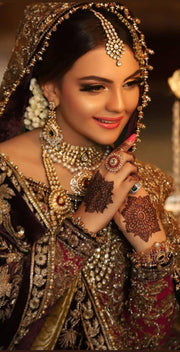 Bridal Kundan Rani Haar and Necklace Set
