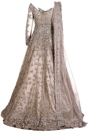 Pakistani Wedding Dress In Kundan Net 1