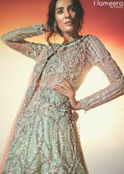 Elegant Pakistani Bridal Maxi for Wedding Online Closeup View