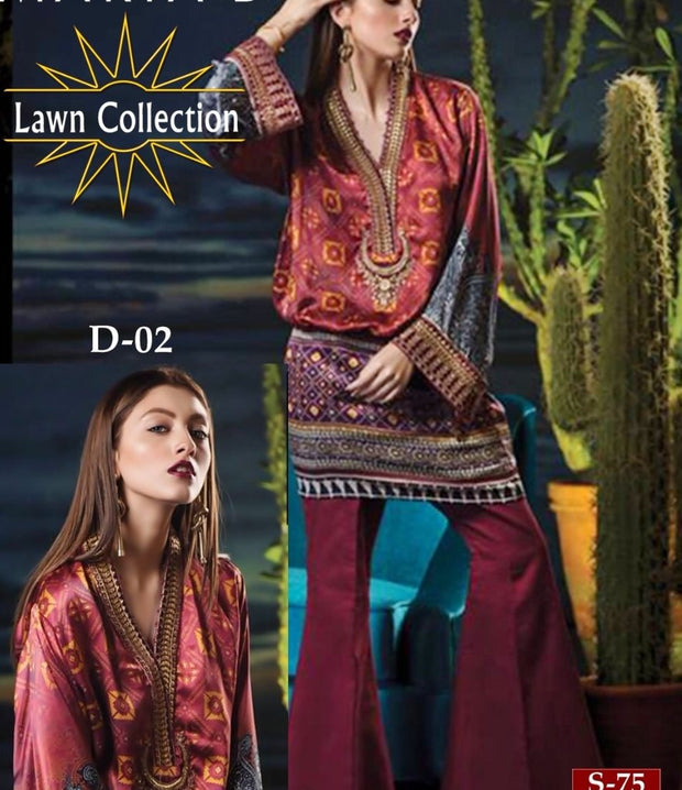 Buy Pakistani Designer Lawn dress by Maria. B in US