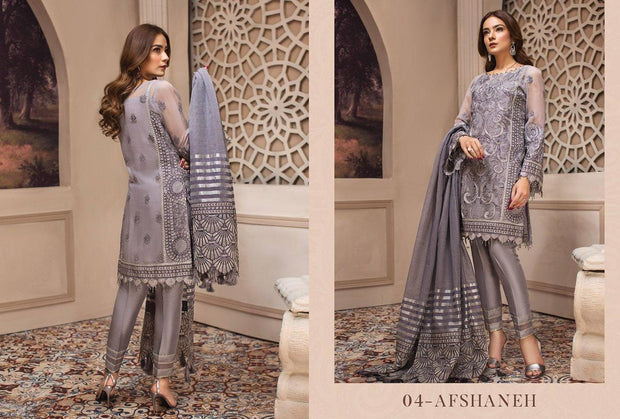 Buy Pakistani Latest Grey Color Chiffon Festive Wear 2019
