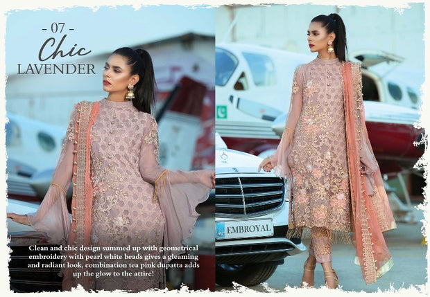 Elegant Eid Dress in Soft lavender 3