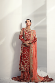 Classic Bridal Red Lehnga with Embroidery