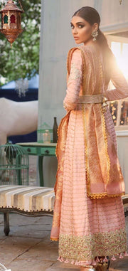 Cotton net gown Pakistani style for women 1