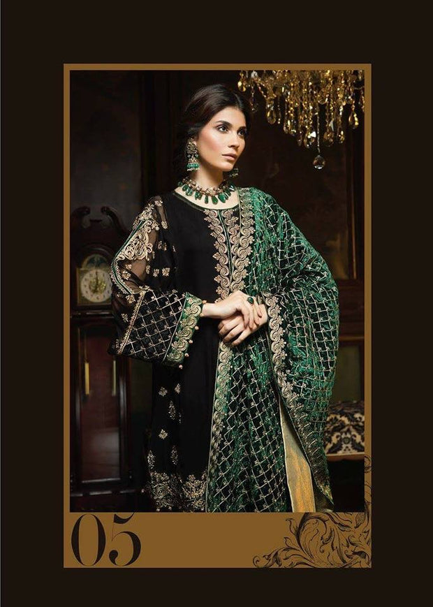 Beautiful chiffon dress by ayra in black and bottle green color