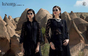 Zainab Chotani Black Dress .With Threads Embroidery And Sequance Work.