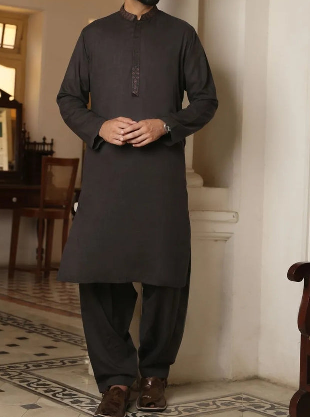 Shalwar kameez mens in charcoal grey colour