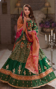Dark Green Lehenga Choli