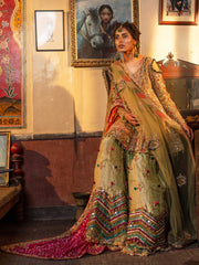 Designer Bridal Gharara Shirt for Mehndi