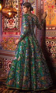 Designer Bridal  Mehndi Frock for Wedding Backside View