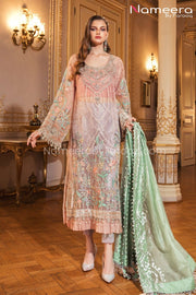 Designer Chiffon Party Dress with Embroidery Online