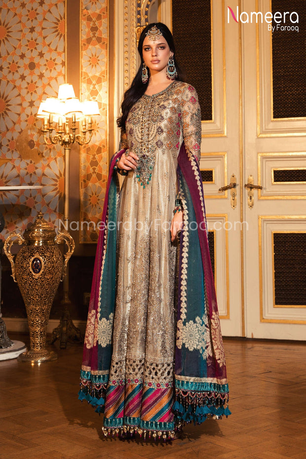 Designer Party Wear Frock Clear View