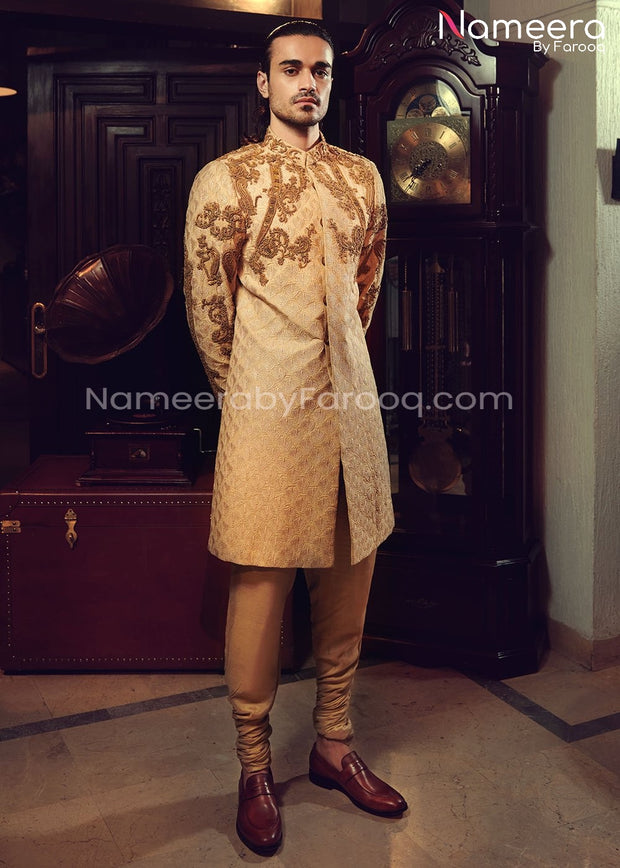Designer Sherwani for Groom with Embroidery Online