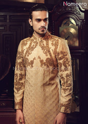 Designer Sherwani for Groom with Embroidery Online Close Up