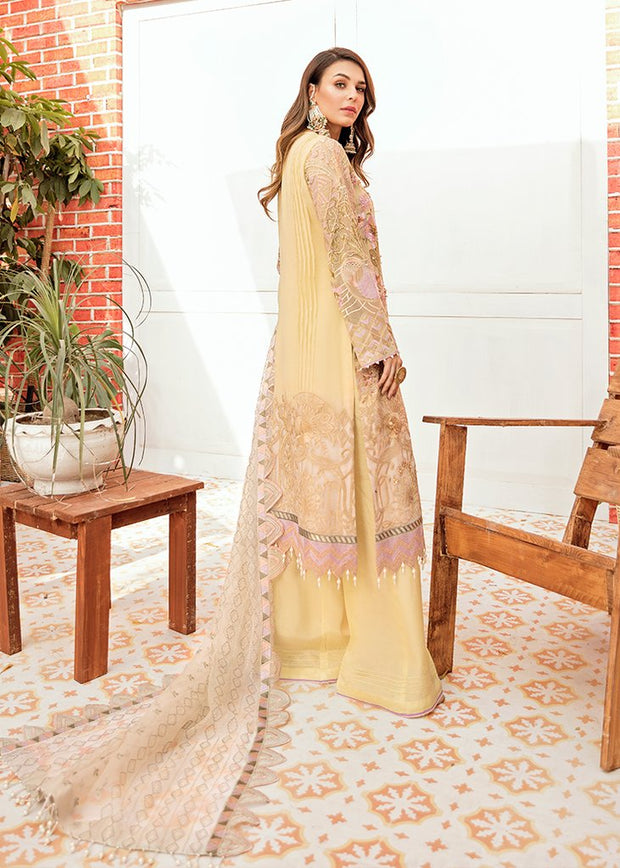 Designer Wedding Party Outfit in Lemon Color