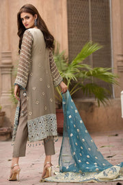 Designer Chiffon Outfit for Women Backside