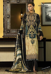 Designer Lawn Suit in Black Color