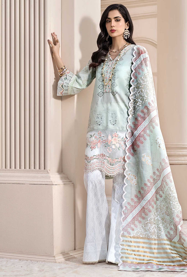 Designer Lawn Suit with Embroidery