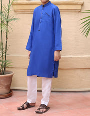 Beautiful designer boys kurta in lavish blue color
