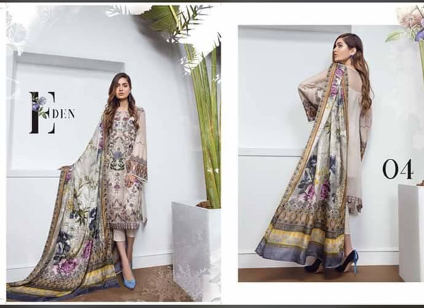 Beutifull dress by sareen in chiffon Model # C 1136