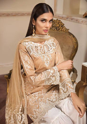 Pakistani Gharara Dress By Anaya.Work Embellished With Heavy Threads Embroidery And Cutwork.