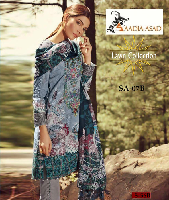 Lawn dress by Sadia Ahmad Model # L 1150