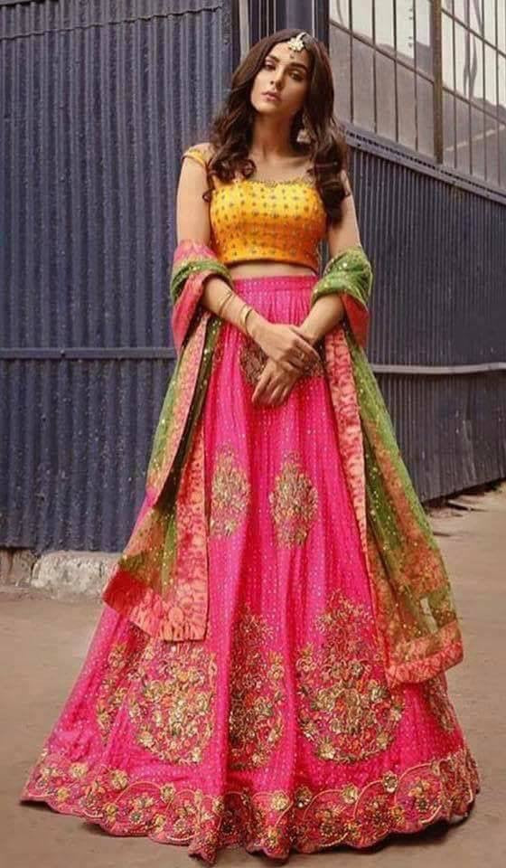 Beutifull lahnga choli dress for mehndi Model # P 923