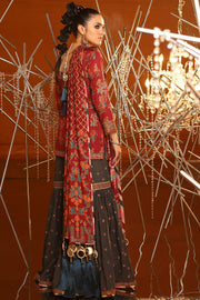 Eid Gharara Suit in Maroon Color Backside View