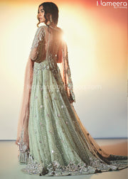 Elegant Pakistani Bridal Maxi for Wedding Online Backside View'