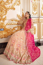 Elegant Pakistani Long Frock for Wedding Party Frock Look
