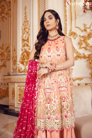Elegant Pakistani Long Frock for Wedding Party Front Look