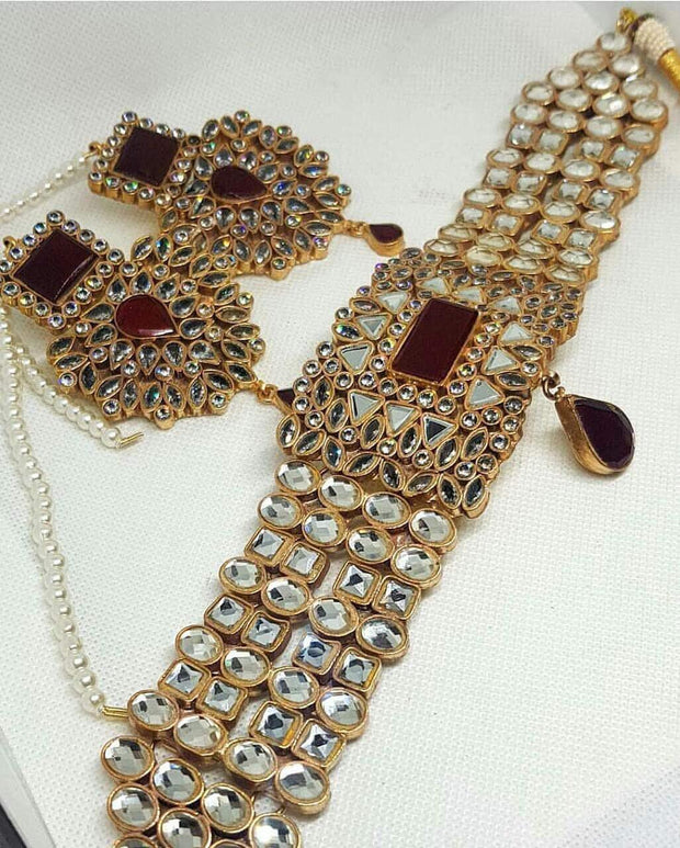 Elegant Bridal Kundan Necklace