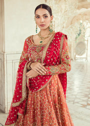 Elegant Pakistani Bridal Lehnga Dress for Wedding Close Up