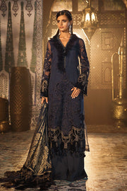 Elegant Pakistani Designer Dress in Dark Blue Color