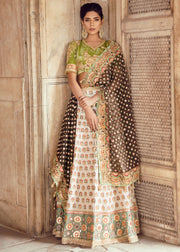 Elegant Pakistani Lehnga Shirt for Asian Bride Front Look
