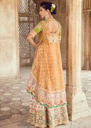 Elegant Pakistani Lehnga Shirt for Asian Bride Backside View