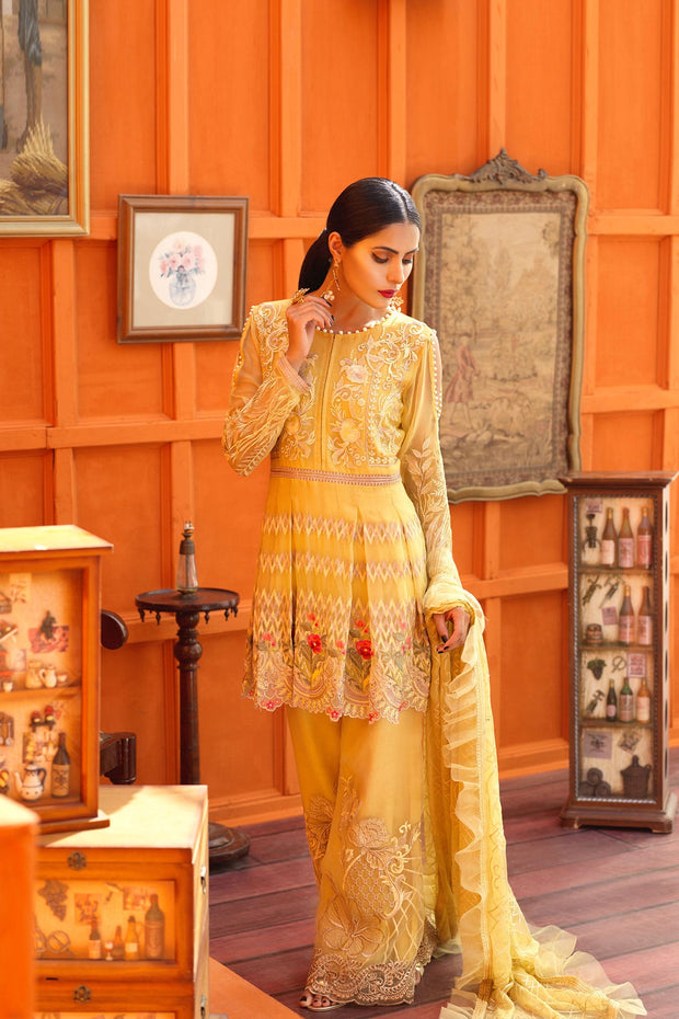 Elegant peplum Pakistani dress online