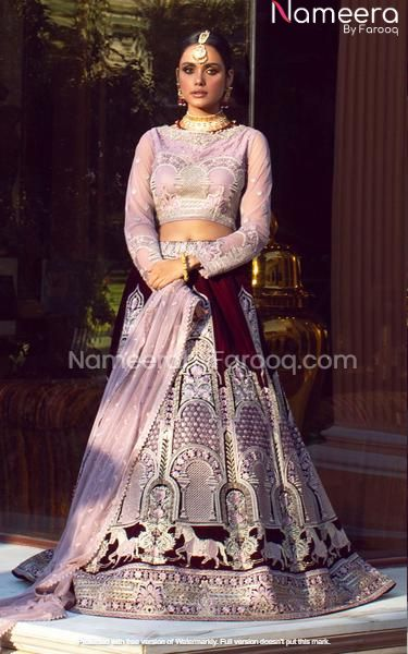 Embellished Pakistani Wedding Lehenga Choli