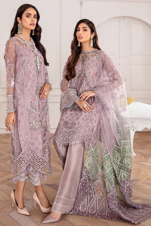Embroidered Chiffon Jazmine Suit